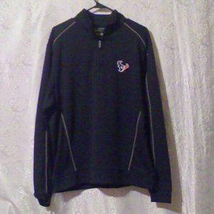 Cutter & Buck Houston Texans 1/4-Zip Knit Shirt *